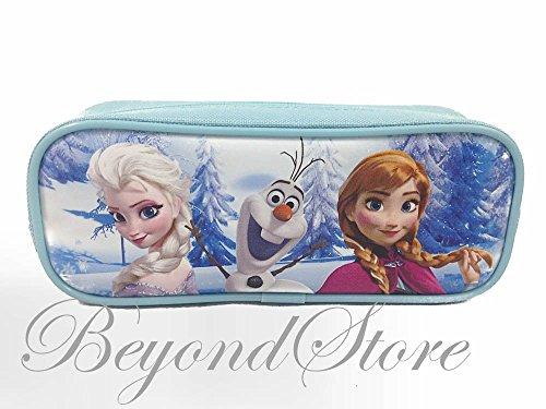 Disney Frozen Elsa and Anna Pencil Case with Zipper Pouch - Blue