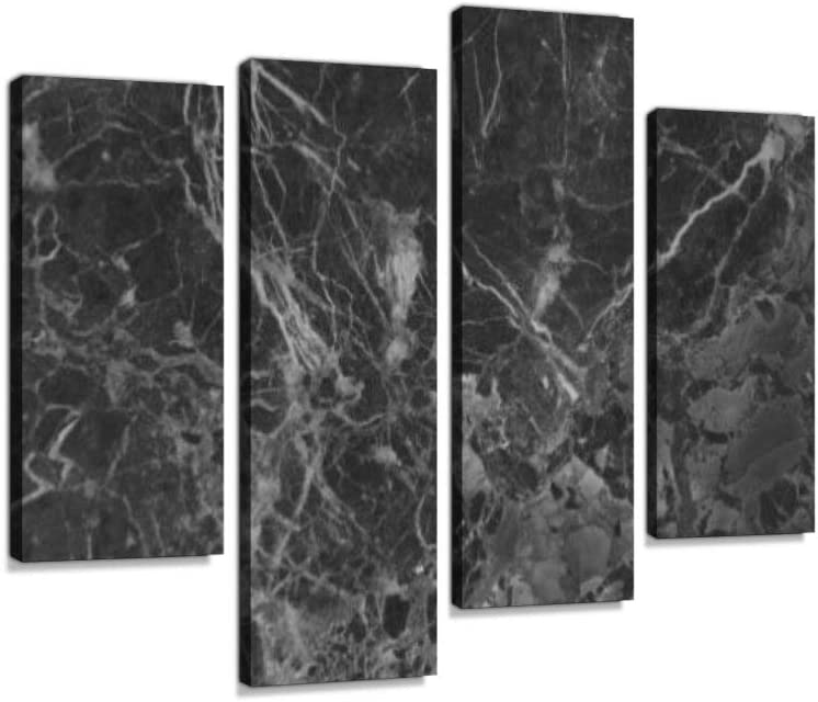 Black Marble Texture Backgroundcanvas Wall Art Hanging Paintings Modern Artwork Abstract Picture Prints Home Decoration Gift Unique Designed Framed 4 Panel Posters Prints