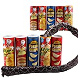 CDKJ Kniffliges Spielzeug, Kartoffelchipschlange, kann springen, gefälschte Schlange als Scherzartikel, Streich, Narrentag, Halloween-Spielzeug (zufällige Farbe)