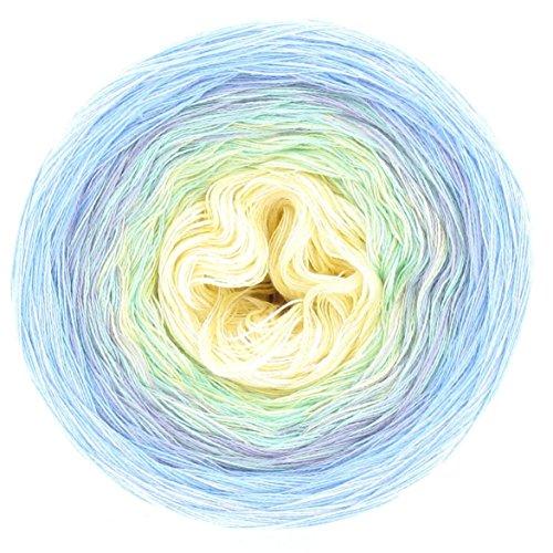LoLa Farbverlaufswolle Aquarell Blaumeise, Variante:3fach - 200g 1000m