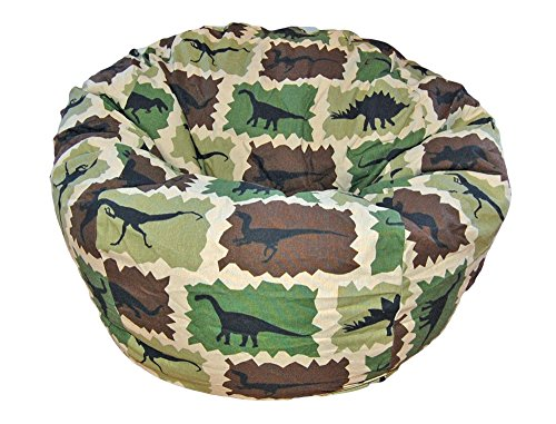 Ahh! Products Dinosaurs Camouflage Kid Bean Bag Chair, Multicolor