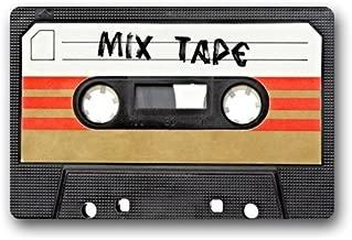 AKF Shop Decorative Mixtape Cassette Funny Retro Vintage Doormats Welcome Mats Entrance Mat Floor Mat Door Mat Rug Indoor/Outdoor/Front Door/Bathroom Mats Rugs for Home/Office/Bedroom Neoprene Rubber Non Slip Backing Machine Washable (23.6