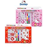 Sanrio Hello Kitty All-in-One School Supplies School Stationery Set Gift Set : Pink or Red (Random)
