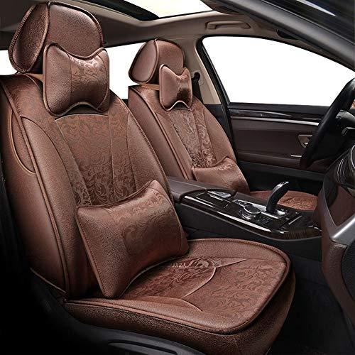 ESUHUANG Asiento de Coche Cubiertas de Cuero del Sistema Completo de la PU con Lino sedán Asiento Protector Accesorios del Amortiguador for Mercedes W204 W211 W210 W124 W212 W202 W245 W163 Cla Las IG