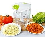 Appetit Gourmet Picadora de Verduras Picadora de Verduras Manual con 5 Cuchillas Inoxidables Gran Capacidad 900 ML para Picar Cebolla, Pesto, Perejil, Ajo, Nueces, Alimentos para Bebes 100% Eficaz