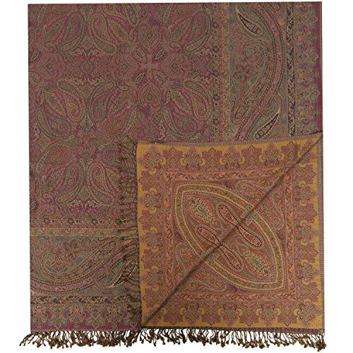 Casa Moro Orientalische XXL Bettdecke 10A Doppeltbett-Decke 220x250 cm aus 100% Baumwolle Indian-Style mit Fransen | Premium-Qualität Bettüberwurf mit Kaschmir Feeling aus Naturfaser | A945BD10A