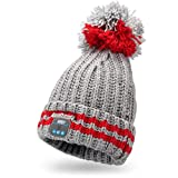 August EPA30 – Bluetooth Mütze mit Bommel – Winter Beanie mit Bluetooth Stereo...