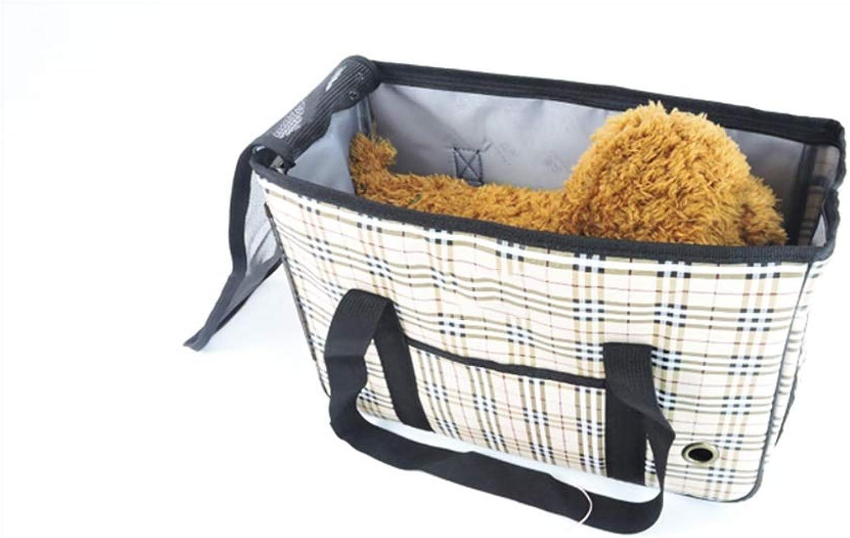 A_Feel pet bag backpack Pet Carrier, Doggie Cat Hand Free Sling Carry Dog Adjustable Padded Shoulder Strap Tote Bag with Front Pocket Safety Belt Outdoor Travel Puppy Carrying for Walking Subway