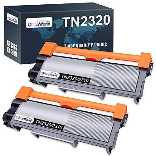 OfficeWorld TN2320 TN2310 Ersatz für Brother TN-2320 TN-2310 Toner für Brother MFC-L2700DW HL-L2340DW DCP-L2520DW HL-L2300D DCP-L2500D MFC-L2720DW HL-L2360DN DCP-L2560DW HL-L2365DW (2 Schwarz)