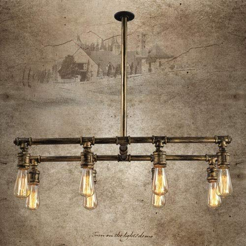 Srr6urt5u Easy to fit Steampunk 8-Lights Vintage Industrial Chandelier Iron Metal Water Pipe Shaped Ceiling Hanging Light Pendant Lamp Holder Fixture for Bar Club Restaurant E27 Beautiful steampunk buy now online