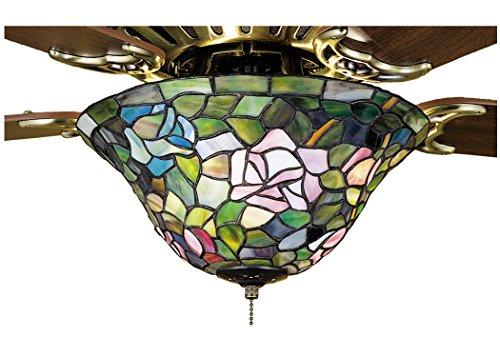 """Meyda Tiffany 27448 Rosebush Ceiling Fan Light Fixture, 12"""" Width"""