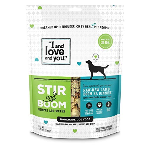 """""""I and love and you"""" Stir & Boom Dehydrated Freeze Dried Raw Dog Food Topper"""