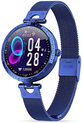 Exquisito reloj inteligente para mujer Ak22 1 9 pulgadas Hd Full Touch Ip68 impermeable Fitness Tracker con ritmo cardíaco recordatorio fisiológico femenino pulsera deportiva moda vacaciones g-C