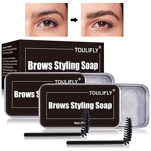 Soap Brows,Eyebrow Shaping Soap,3D Augenbrauen Make-up Gel,Eyebrow Shaping Soap,mit Pinsel Wasserdichte,für die Erstellung von 3D Brushed Up Eyebrows Wild Brauen Make-up