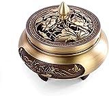Qohg Holder Incenso Bruciatore di incenso Pure Rame Pure Copper Bruciatore di incenso Ornamenti Aromaterapia per Buddha Antico Bruciatore di incenso Ornamenti