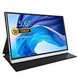 Portable Monitor - Corprit Upgraded 15.6' 1080P FHD USB C Computer Monitor with HDMI Dual Type-C Speakers Eye Care IPS Display Portable Screen for Laptop PC Mac Phone Xbox PS4 Included Smart Cover