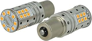 Bombilla LED BAU15S PY21W Canbus 12V (25W Real) Naranja intermitente no Error 32 SMD 3030
