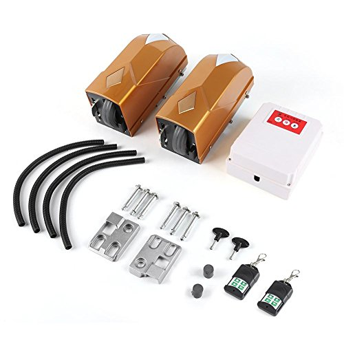 Elektrische automatische deuropener voor dubbele schommel, 2 motoren + 2 afstandsbediening + 1 controlebox