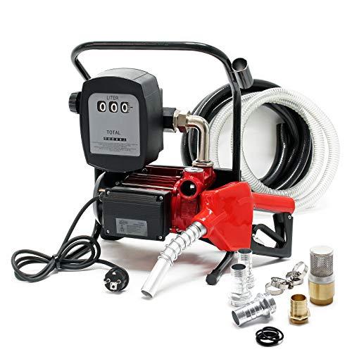 Bio Dieselpumpe Heizölpumpe selbstansaugend 230V/600W 40l/min automatische Pistole Umfüllpumpe Absau