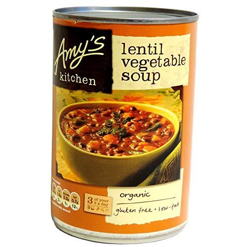 Amy's Kitchen Lentejas Sopa De Verduras 400g (Paquete de 2)