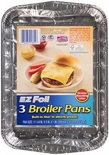 3PK 11-1/4x8 Broil Pan