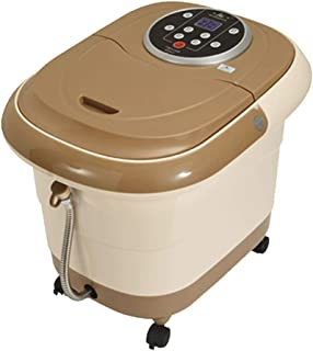 Qing MEI Foot tub Fully Automatic Heated Foot Massager 2 Speed Adjustable Thermostatic Foot Bath Barrel 26cm deep Barrel can be Used to soak The Calf