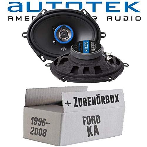 Lautsprecher Boxen Autotek ATX-572 | 2-Wege oval 13x18cm Koax Lautsprecher 5\'x7\' Auto Einbauzubehör - Einbauset für Ford KA Front - JUST SOUND best choice for caraudio