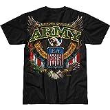 Camiseta de manga corta para hombre, diseño del ejército de lucha contra el águila - Negro - Medium