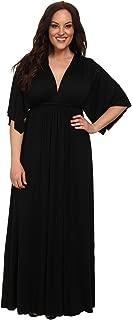 Caftan Label Women's Plus Maxi Dress Blacks