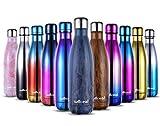 willceal in Acciaio Inox a Doppia Parete Vuoto Isolato Bottiglie d' Acqua,500 ml, a Prova di perdite per Mantenere Bevande Calde e Fredde Bottiglia per Sport all' Aperto Campeggio (Aqua Blue, 500ml)
