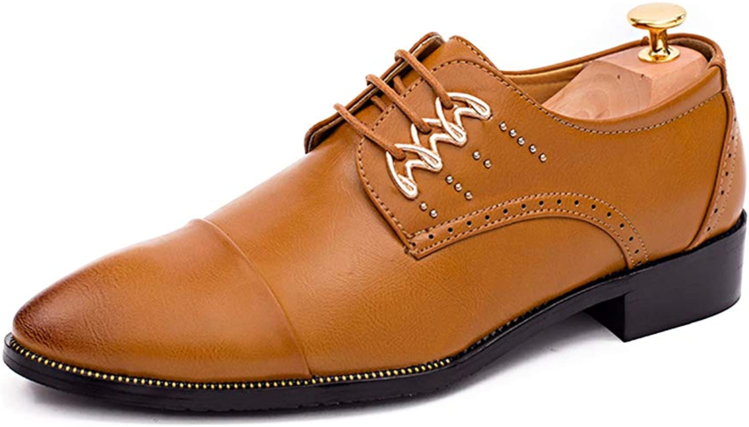 CHENXD shoes, Men's Fashion New Casual Business Oxford Wear Low color Helps Tip The British Trend Formal shoes