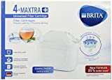 Brita MAXTRA+ - 4 Replacement Filters Compatible with 4 Months of Filtered Water - 4 Cartridges, Rubber, White, Plus