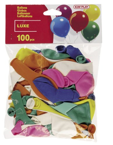 Cofalu Kim'Play - Décoration de table - 100 Ballons hélium A GonflerLuxe Assortis
