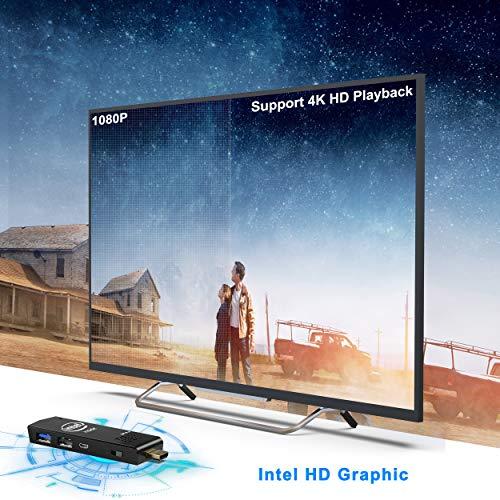 W5 PC Stick Intel Atom Z8350 Windows 10 64bit 2GB DDR3/32GB eMMC Stick Computer, 4K HD, 2.4/5G Dual Band WiFi, Bluetooth 4.2