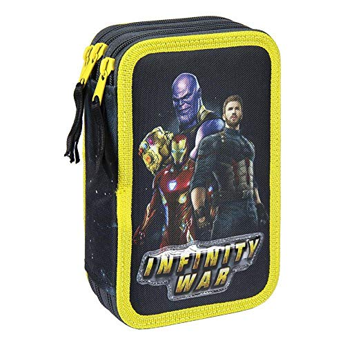Estuches Multicolor AVENGERS, Unisex Adulto Avengers Plumier Triple Giotto Premium de Avengers 21-2492, Talla única