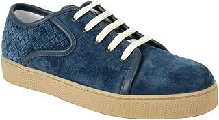 Bottega Veneta Men's Blue Suede Sneaker with Woven 475167 4146 (43 EU / 10 US)