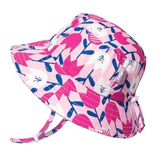 Jan & Jul Boys Baby Girl Summer Quick Dry Sun Hat 50 UPF, Adjustable, Stay-on Tie (S: 0-6 Months, Tulip)