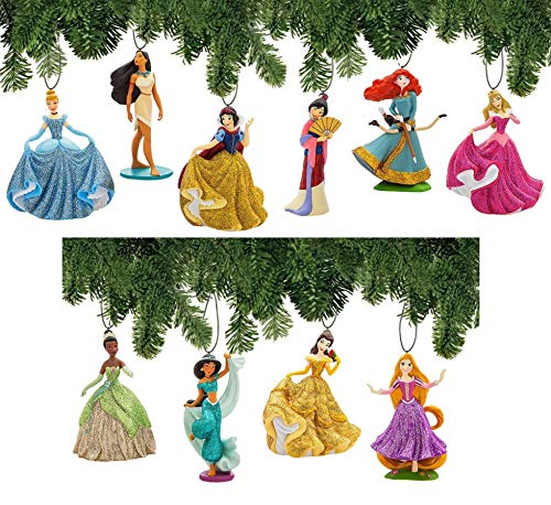 Disney Princess Ornament Set Deluxe 11 Piece Christmas Tree Holiday Ornaments