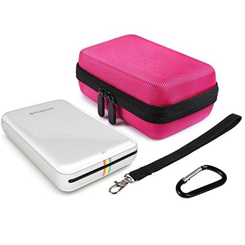 Faylapa Hard Case for HP Sprocket,EVA Nylon Shockproof Carrying Bag fit Phone Sprocket Portable Photo Printer,Anker Hard Drive (Rose Red) Photo #7