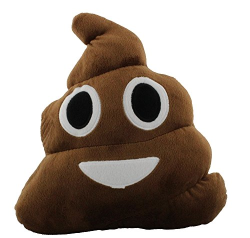 Emoji Expressions Plush Pillow - Poop Face