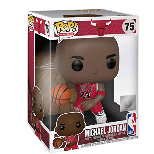 Lotoy Funko Pop Basketball : Bulls - Red Jersey Michael Jordan Vinyl 10inch for NBA Fans Model