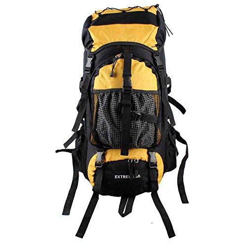 WuJiPeng Sac à Dos De Camping De Randonnée En Plein Air Grande Capacité 55L Sac à Dos D'alpinisme Multi-usages Tissu Oxford Et Imperméable Et Durable,C