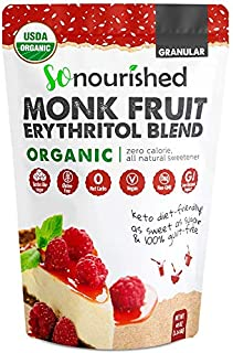 Sponsored Ad - Organic Monk Fruit Sweetener with Erythritol Granular - 1:1 Sugar Substitute, Keto - 0 Calorie, 0 Net Carb,...