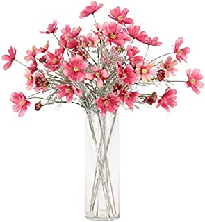 Artfen 6 Pack Artificial Calliopsis Flowers Fake Silk Flower Table Kitchen Home Garden Party Wedding Decoration Approx 24'' High Classic Pink No Vase