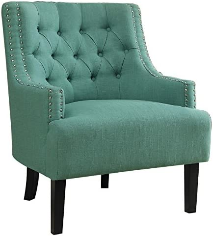 Best Homelegance Fabric Accent Chair, Teal