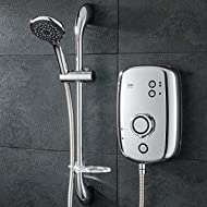 Push button power controls: Cold, eco, high Separate temperature and flow controls Phased shutdown - Reduces limescale build up Large 5 spray pattern showerhead 1.5 m anti-twist hose to avoid kinks 2 year full parts and labour guarantee (UK only - Pr...