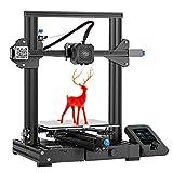 Stampante 3D Creality Ender-3 V2, 2020 Stampante 3D aggiornata con scheda madre silenziosa, Riprendi stampa, Pratica cassetta degli attrezzi, Nuovo display