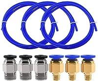 修理が簡単 プリンターアクセサリー3PS空気圧コネクター+ 3Dプリンター1.75mmフィラメントフレキシブルシャフトカプラー用プリンター1メートル青 丈夫な