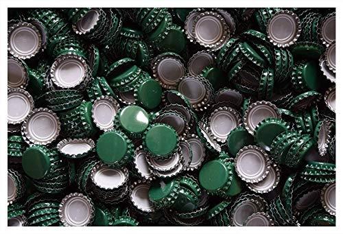 1000 stuks kroonkurken groen ongestanst 26 mm voor Bier ZELVER BRUIN NIEUW KA26