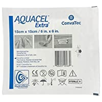 New and Improved AQUACEL EXTRA Hydrofiber dressing 6 x 6 (1 Dressing) by Aquacel